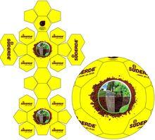 fußball 26 Panel Penta Design Design, Football Soccer, Sewing Patterns