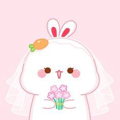 Cute Bunny Cartoon, Cute Cartoon Pictures, Cute Love Cartoons, Cute Girl Drawing, Cute Drawings, Animal Drawings, Good Morning Cartoon, Chibi Cat, Cute Tigers