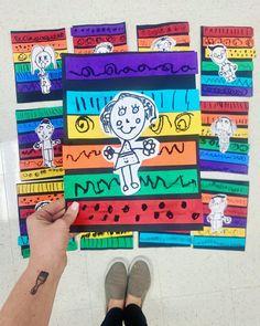 Grade 1 Art, First Grade Art, Kindergarten Art Lessons, Art Lessons Elementary, School Art Projects, Art School, Ecole Art, Art Classroom, Art Activities