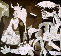 This is El Guernica by Picasso. It's huge, I saw it when I was in Spain. We are setting our Carmen during the Spanish Civil War, so this piece is really inspirational for me at this moment.