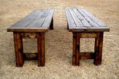 wooden benches to go with my table!