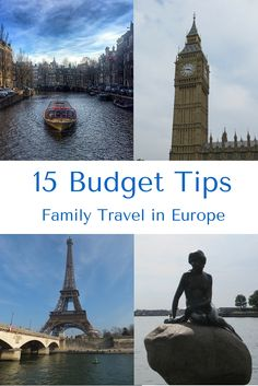 15 Budget Tips for Family Travel in Europe - Tips to help families save money on flights, accommodations, meals, activities and more when traveling to Europe | Gone with the Family