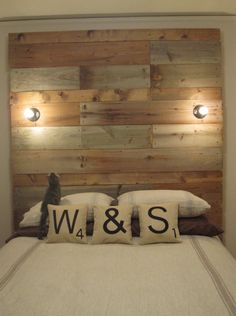 ~ will & sally bryant's awesome DIY bed frame and headboard ~ still want to attempt something like this using old pallets.