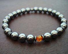Men's Emerald Mala Bracelet May Birthstone Mala by 5thElementYoga