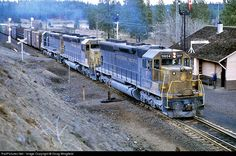 RailPictures.Net Photo: NP 3604 Northern Pacific Railway EMD SD45 at Scribner, Washington by Doug Wingfield