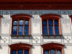 The Rostock University, founded in is considered as the oldest university of the Baltic Sea area. The depicted main building was erected in the years 1867 – 1870 and it is an example of Renaissance Revival architecture in Mecklenburg. Revival Architecture, Baltic Sea, Facade, Maine, Old Things, University, Wall Decor, Mansions, Decoration