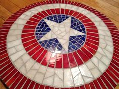 Capt. America mosaic table
