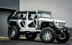 """Jeep Wrangler Forgiato by Brian's Motorsports, The Jeep Wrangler is a somewhat capable off-road machine. Compared to loads of other """"city SUVs"""", it might be o Jeep Wrangler Lifted, Jeep Rubicon, Jeep 4x4, Jeep Truck, Wrangler Jk, Jeep Wranglers, Lifted Jeeps, Cool Jeeps, Cool Trucks"""