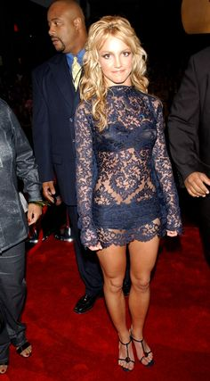 Classic Britney - makes me want to work out and only eat lettuce! Like thie dress