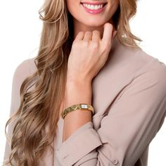 kate spade new york Women's 1YRU0275 'Cobble' Gold Plated Bangle Watch | Overstock.com Shopping - The Best Prices on Kate Spade Women's Kate...