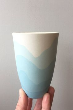 Mountains or waves? This cup can be whatever you want it to be.