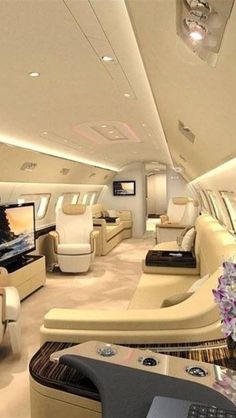 Millionairess only travels in her private jet.