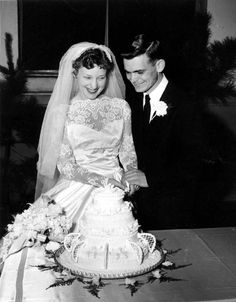 Chic Vintage Brides – 1950s Bride and Groom