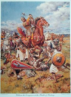 William the Conqueror at the Battle of Hastings (Print) by Fortunino Matania