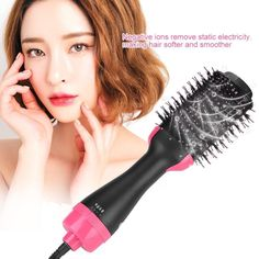 One Step Hair Dryer Volumizer 2 in 1 Laveum Hair Dryer Brush, Dry Brushing, Wet Hair, Professional Hairstyles, Protective Hairstyles, How To Make Hair, Styling Tools, Damaged Hair, Hair Tools