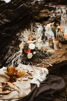 For a bride to find ideas for her alternative rustic beach wedding. Create the perfect simple outdoor wedding that is unique and special Beach Elopement, Elopement Wedding, Elope Wedding, Wedding Shoot, Devon Beach, Rustic Boho Wedding, Weddingideas, Alternative, Table Decorations