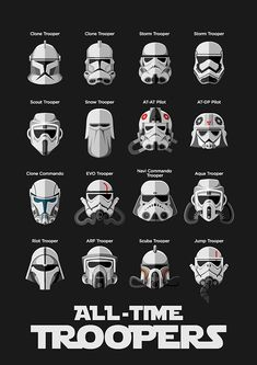 All the Trooperslooks at Clone Troopers and Stormtroopers from Star Wars universe and the now expired extended universe.
