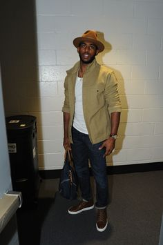 Chris Paul arriving to the game.