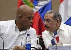 Michel Martelly y Danilo Medina oct 2015 Barahona aerop Maria Montez