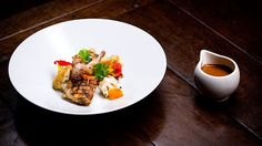Grilled Quail with Butter Roasted Cauliflower and Red Eye Gravy
