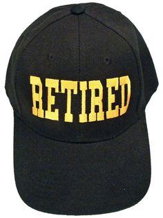 RETIRED Black Baseball Cap Retiree Hat Retirement Party Headwear for Teachers Military Boss Family Co-Worker