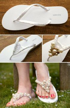 Cómo realizar sandalias para una boda en la playa