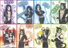 KISS: the powered band by HanamiYumeno on DeviantArt Kiss Images, Best Kisses, Kiss Band, Crazy Man, Space Invaders, 2017 Images, Hair Painting, Art Club, Community Art