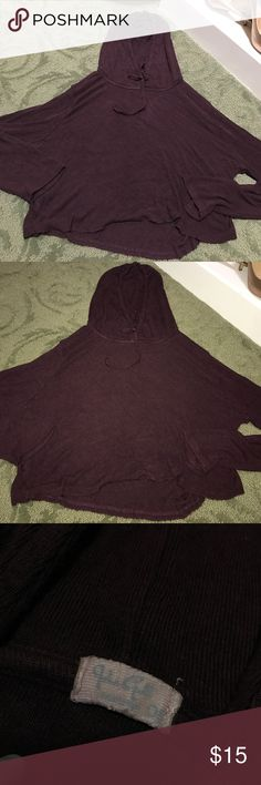 NWOT Stretchy Crop Hoodie ❤SUPER SOFT Extremely soft & stretchy cropped hoodie! Deep maroon! Perfect condition! With drawstrings! Brandy Melville Tops Sweatshirts & Hoodies