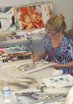 Birgit O'Connor Watercolor Workshop - Rocks, Sand & Seaglass