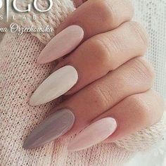 Immagine di nail polish, nails, and almond nails