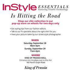 InStyle Mag at King of Prussia Mall & GIVEAWAY!!