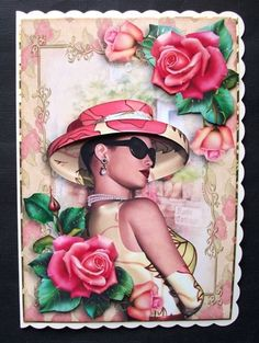 Pink Rose Elegance on Craftsuprint - View Now! Christmas Puppy, Red Christmas, Purple Lily, Westie Puppies, Christmas Decoupage, Antique Roses, Blue Roses, The Balloon