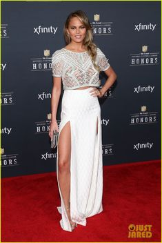 John Legend & Wife Chrissy Teigen Couple Up at NFL Honors 2015 | john legend chrissy teigen nfl honors party 02 - Photo