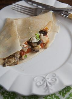 Roasted Ratatouille Crêpes for #SundaySupper | Healthy. Delicious.