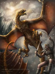 Beowulf battling the enraged fire-breathing dragon in his third and last battle before his death. High Fantasy, Medieval Fantasy, Anglo Saxon History, Mists Of Avalon, Dragon Images, Dragon Pictures, Dragon's Lair, Fantasy Fiction, Fantasy Dragon