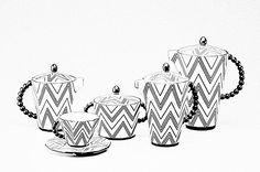 German Cubist Coffee and Tea Set