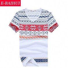 E-BAIHUI brand mens t shirts fashion printing Clothing Swag Men T-shirts  Camiseta tops tees Skate Moleton man t shirt b76da9bf34f35