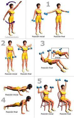 #Rutina sencilla de #ejercicios para #adelgazar y tonificar brazos #pilatesrutina #adelgazarbrazos