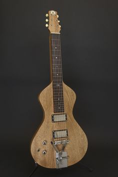Asher Electro Hawaiian lap steel with 2-level palm bender