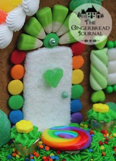 GINGERBREAD HOUSE~gingerbread house St. Patrick's Day 2015 www.gingerbreadjournal.com