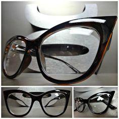 1c61851e9a Classic Vintage 50 s Retro Cat Eye Style Clear Lens Eye Glasses Tortoise  Frame Eye Frames