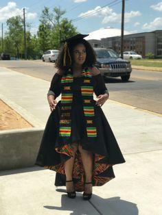 African print graduation hbcu grad myasu Source by queenmesheba. African Print Dresses, African Print Fashion, African Wear, African Attire, African Fashion Dresses, African Dress, African Clothes, African Prints, Graduation Dress College