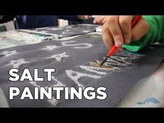 How To Make Raised Salt Paintings [Crafts for Kids #7] - YouTube