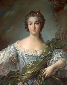 1748 - Marie-Louise-Therese Victoire de France (Madame Victoire) after Jean Marc Nattier
