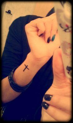 Cross on wrist just like demi lovato ♡♥