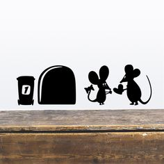 I love you so much 3d Funny mouse hole wall stickers decals Living room Bedroom wall art wallpaper mural Wedding decoration