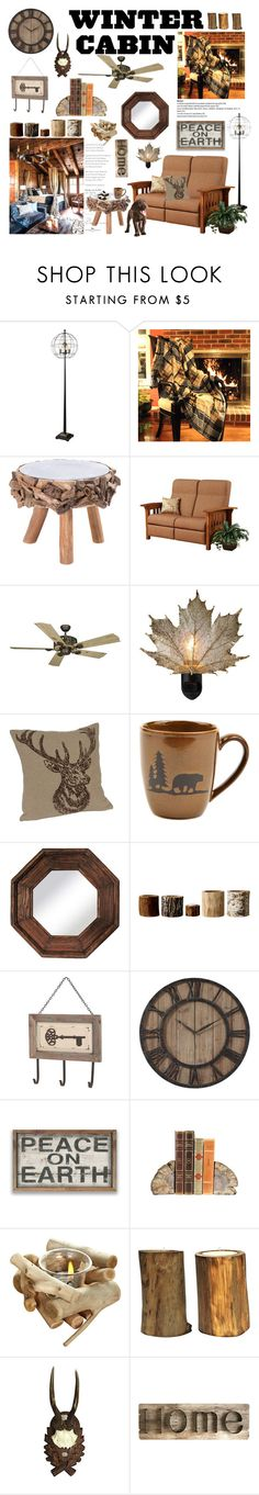 """winter cabin"" by mimas-style ❤ liked on Polyvore featuring interior, interiors, interior design, home, home decor, interior decorating, DutchCrafters, Vaxcel Lighting, PTM Images and Bloomingville"
