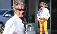 Rod Stewart runs errands in bright YELLOW trousers