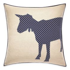 Incorporate a whimsical touch to your living quarters with ED Ellen DeGeneres' Goat Dot Throw Pillow. Accented with a dotted applique in a unique goat silhouette, this ultra-soft cushion evokes the perfect homey aesthetic. Ellen Degeneres Home, Arrow Feather, Cute Quilts, Throw Pillows Bed, Country Crafts, Butterfly Chair, Animal Pillows, Goats, Sewing Crafts