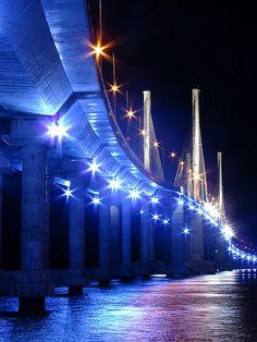 Ponte Estaiada Octavio Frias de Oliveira Bridge, Sao Paulo, Brazil by Charlotte Spode